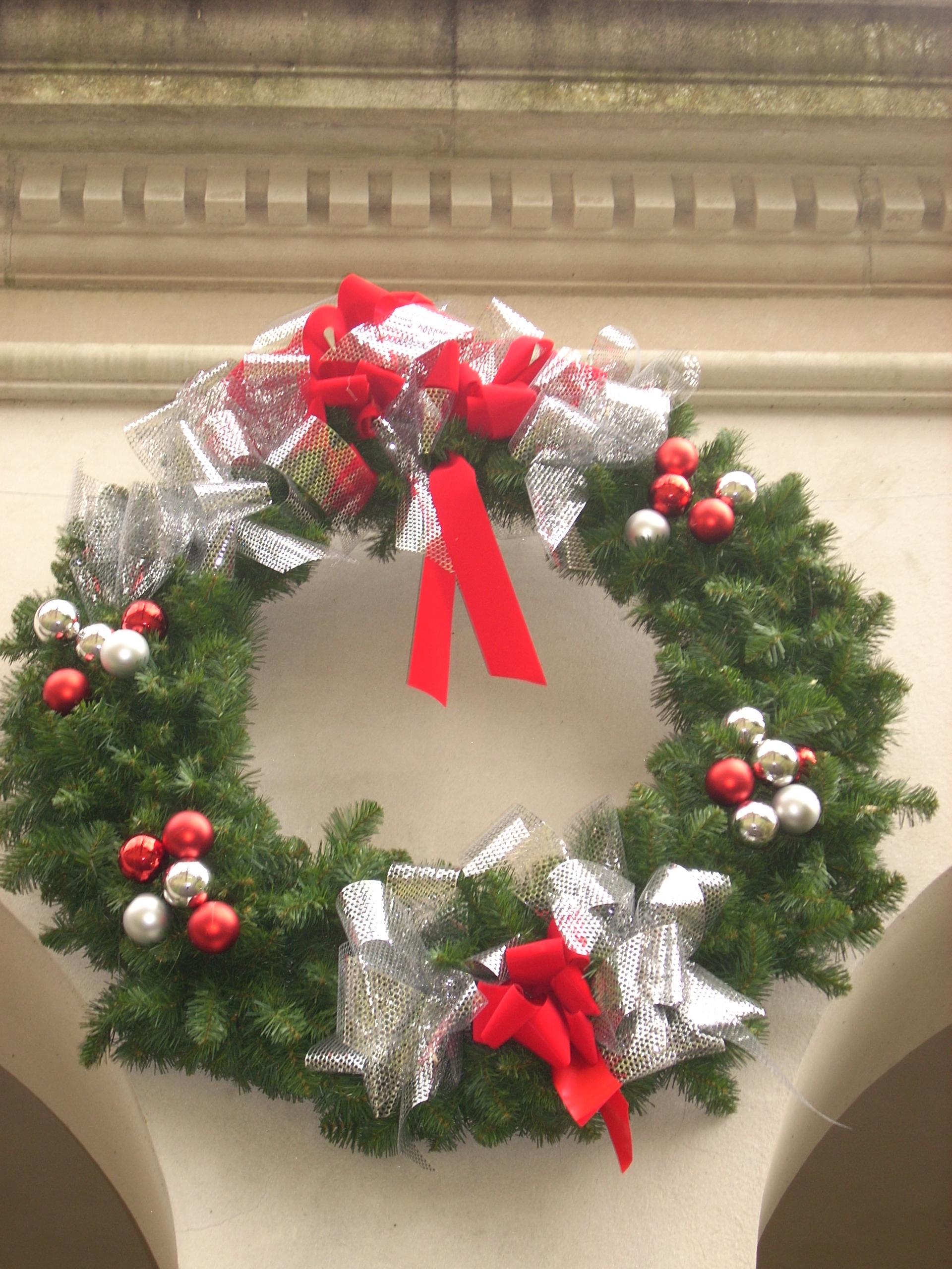 Wreath on East Terrace