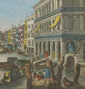 Photo 4 detail of a scene of a view of the bridge Rialto Venice  1969.0887.005
