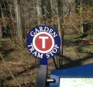 ew tram stop sign