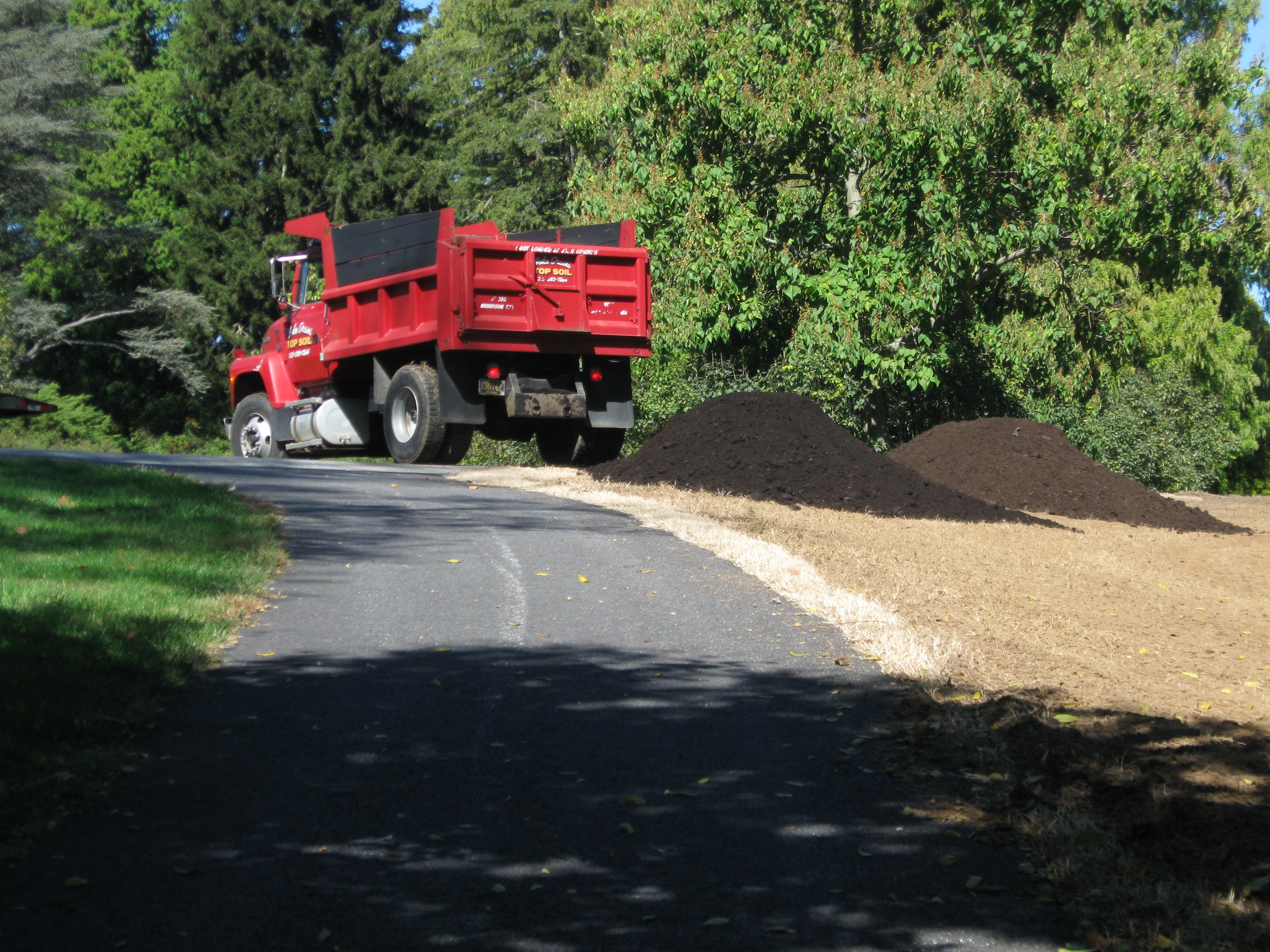 Truckloads of Compost Delivered on Site