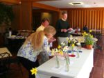Intense judging in the Daffodil Show
