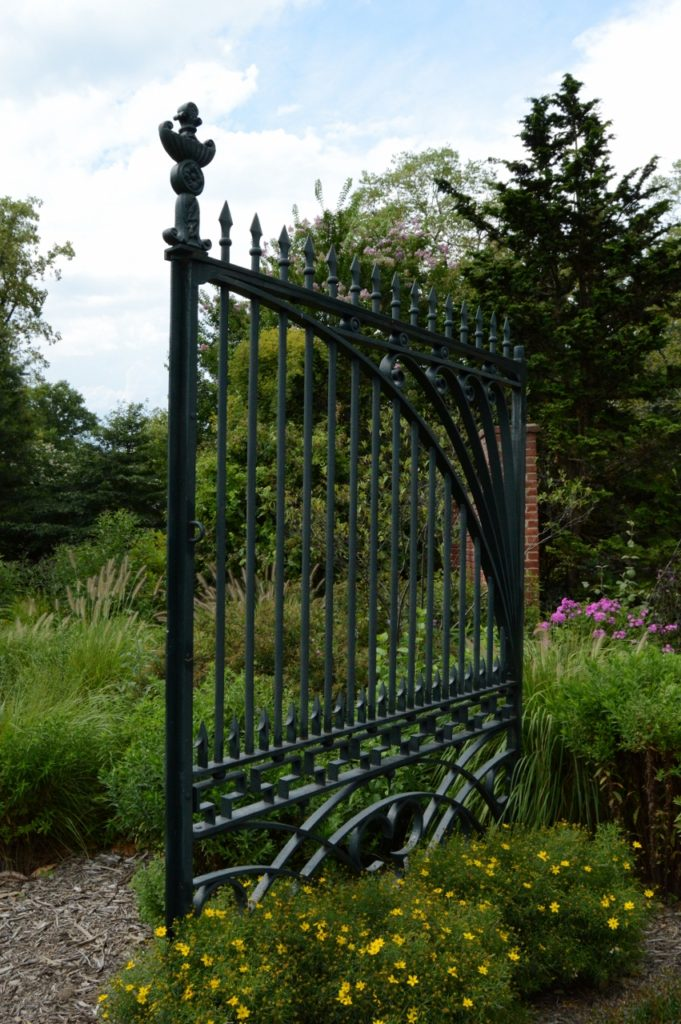 Iron gate originally from the White House, through which Abraham Lincoln would have walked